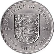 5 shillings Bataille d'Hastings – revers