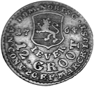 12 grote Friedrich August of Anhalt Zerbst (type I) – revers