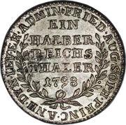 ½ Thaler - Friederike Auguste Sophie -  revers