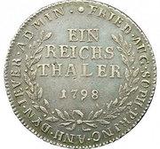 1 reichsthaler - Friederike Auguste Sophie – revers