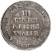 ⅓ Thaler - Karl Wilhelm von Anhalt-Zerbst – revers