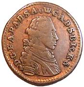 1 pfennig Friedrich August – avers