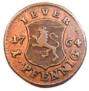 1 pfennig Friedrich August – revers
