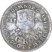 1 groten Friedrich August of Anhalt Zerbst – revers