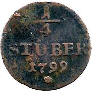 ¼ Stuber - Friederike Auguste Sophie – revers