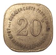20 centimes - Groupement des Commerçants, Industriels & Habitants - Joinville-le-Pont (94) – revers
