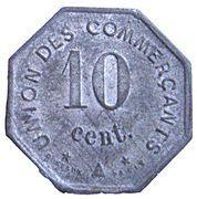 10 centimes - Union des  Commerçants - Jonzac [17] – revers