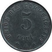 5 centimes - Union des  Commerçants - Jonzac [17] – revers