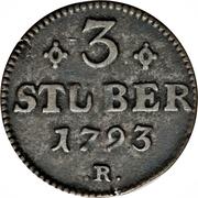 3 Stuber - Carl Theodor – revers