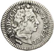 ¼ ducat Johann Wilhelm II (Frappe essai en argent) – avers