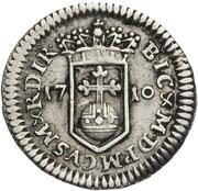 ¼ ducat Johann Wilhelm II (Frappe essai en argent) – revers