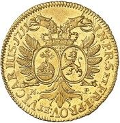 1 ducat Johann Wilhelm – revers