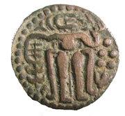 1271 AD Ceylon King Buvanaikabahu Medieval Copper Massa Coin -  avers