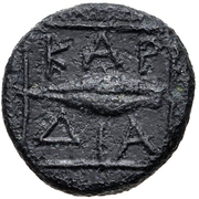 Bronze Æ12 (Kardia) – revers