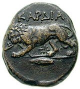 Bronze Æ20 (Kardia) -  revers
