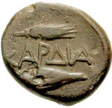 Bronze Æ11 (Kardia) – revers