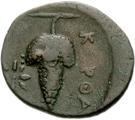 Bronze Æ20 (Karthaia) – revers