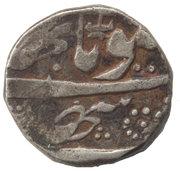 1 Roupie Kham - Gulab Singh (VS1903-1913 / 1846-1856AD) – avers
