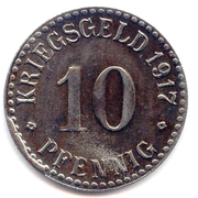 10 pfennig - Cassel – revers
