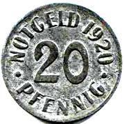 20 pfennig - Cassel – revers