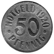 50 pfennig - Cassel – revers