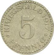 5 pfennig - Cassel – revers