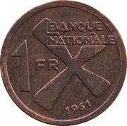 1 franc -  revers