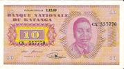 10 Francs (Moise Tshombé) – avers