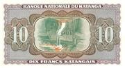 """10 Francs """"Moise Tshombé"""" – revers"""