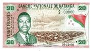"20 Francs ""Moise Tshombé"" – avers"