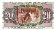 """20 Francs """"Moise Tshombé"""" – revers"""