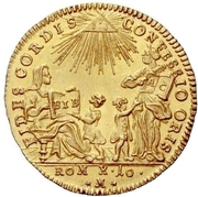 1 Ducat (Bicentennial of Augsburg Confession) – avers
