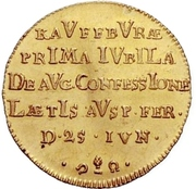 1 Ducat (Bicentennial of Augsburg Confession) – revers