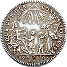 1 Ducat (Bicentennial of Augsburg Confession; Silver pattern strike) – avers