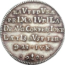 1 Ducat (Bicentennial of Augsburg Confession; Silver pattern strike) – revers