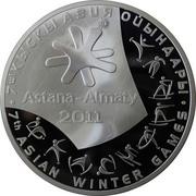 5000 Tenge (7th Asian Winter Games) – revers