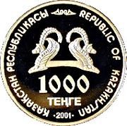 1000 Tenge (Golden man) – avers