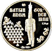 1000 Tenge (Golden man) – revers