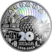 5000 Tenge (20 ans d'Astana) – revers