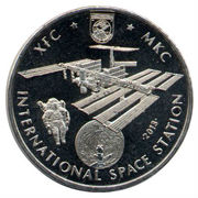 50 tenge Station Spatiale Internationale – revers