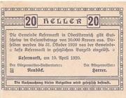20 Heller (Kefermarkt) -  revers