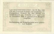 20 Heller 1920 Kematen – revers