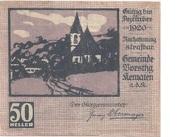 50 Heller (Kematen an der Krems) – avers