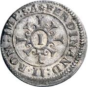 1 Kreuzer - Johann Eucharius von Wolffurt – revers