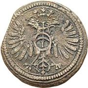 1 Kreuzer - Johann Eucharius von Wolffurt (Kipper) – revers