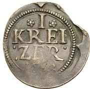 1 Kreuzer (Kipper) – revers