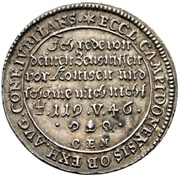 1 Ducat (Augsburg Confession; Silver pattern strike) – avers