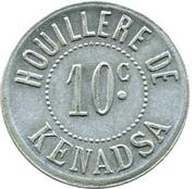 10 Centimes (Sociétés des Houillères du Sud Oranais) – avers