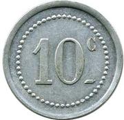10 Centimes (Sociétés des Houillères du Sud Oranais) – revers