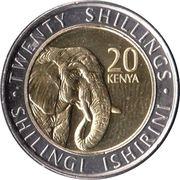20 shillings (Éléphant) – revers